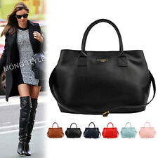 New Women Fashion Shoulder Tote Handbag Faux Leather Hobo Purse Cross Body Bag