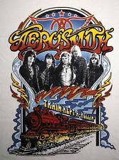 NEW! Aerosmith Train Kept A Rollin Classic Rock Band Concert Tour Adult T-Shirt