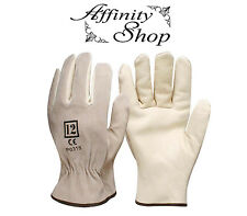 2 Pair Swaggy Rigger Gloves Cow Leather Glove Any Size Work Safety Hand Protect