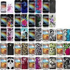 Colorful Patterns Hard Case Protective Snap-On Cover Skin For LG Volt LS740