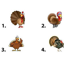 Waterslide Nail Decals Set of 20 - Thanksgiving Turkey - you choose