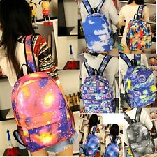 Unisex Backpack Vintage Galaxy Campus Fashion School Notebook Rucksack Bag Totes