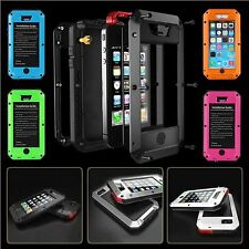 Waterproof Dirt/Shockproof Aluminum Gorilla Glass Case Cover For iPhone 5 5S