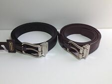 Coach Men's Signature Embossed Leather Cut-to-size Reversible Belt F66125 NWT