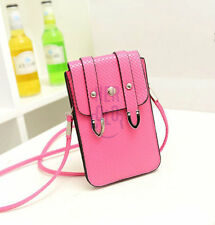 PU Leather Universal Mobile Phone Bag Case Cover Pouch With Shoulder Strap