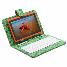"iRulu Tablet PC 16GB 7"" Android 4.2 Dual Core Cameras Orange w/ Cartoon Keyboard"