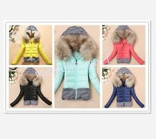women winter coat hooded short down jacket ladies padded cotton coats outerwear