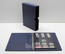 VARIO Blue 3 Ring Binder w 20 Six Pocket Pages for Stamp Collecting & Other