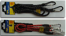 1pc OR 2pc Elastic Bungee Straps Cords With Carabiner Hook Luggage Camping