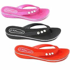 NEW WOMENS LADIES CASUAL SUMMER BEACH FLIP FLOPS SANDALS SHOES UK SIZE 3 - 8