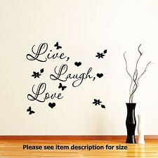 Live Laugh Love Wall Quote wall Stickers Vinyl Decal Wall Art Home Decoration