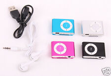 Support Micro SD TF Mini Clip Metal USB MP3 Music Media Player Black Pink Blue