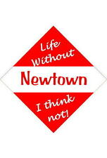 Newtown Car/window signs / Personalised signs / flexible magnets