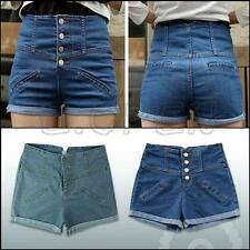 New Girl Denim High Waist Shorts Jeans Pants Vintage Cuffed Jeans Womens Fashion