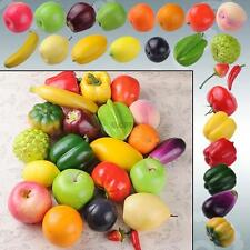 artificial fake apple orange plastic fruit vegetables house party kitchen decor