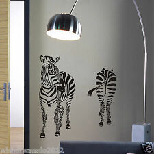 Zebras abstract Wall stickers kid's living room background decor decal animal