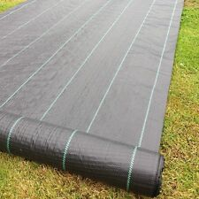 3.3m Wide 100gsm Yuzet lined Ground Cover Weed Control Fabric membrane mulch