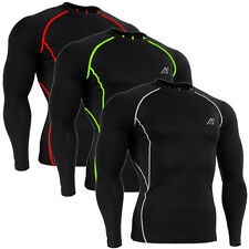Men's Long Sleeve Compression Tight Shirts Gym Workout Fitness Yoga Base Layer