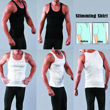 Men's Top Slimming Tummy BodyShaper Vest Waist Belly Underwear Shapewear Shirts