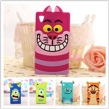 Hot sale Monsters Cat Mike Silicone case for SONY Xperia Z/Z1/Z2 Cell Phone case
