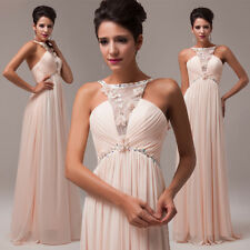 Womens Premium Long Bridesmaid Dress Prom Ball Gown Cocktail Party Evening Dress
