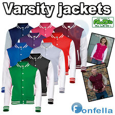 NEW 2014 PREMIUM VARSITY LETTERMAN COLLEGE PLAIN JACKET ★ AMERICAN USA BASEBALL