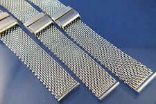 Dive Divers Stainless Steel Shark Mesh Watch Strap Bracelet 12 14 18 20 & 22mm