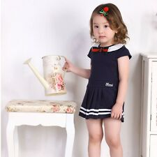 Kids Babies Girls College Wind dress 2014 spring and summer children's clothing