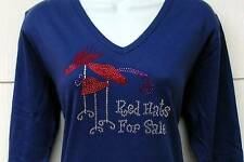 Red Hats for Sale  Rhinestone Crystal embellished tee shirt PLUS **NEW DESIGN**