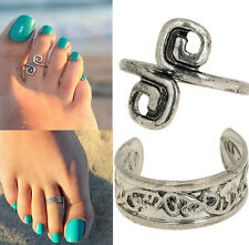 Celebrity Women Fashion Simple Retro Toe Ring Adjustable Foot Beach Jewelry Hot