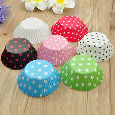 100-1000pcs Polka Dot 2'' Paper Cupcake Muffin Liners Baking Cups Standard Size
