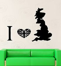 Wall Stickers Vinyl Decal Great Britain UK England Europe Travel Decor (ig482)