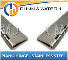 32mm to 120mm Open Width Piano / Continuous Hinge - Stainless Steel  (Trailer)