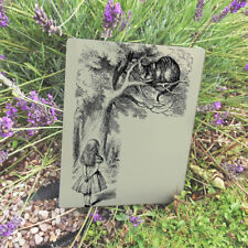 Alice In Wonderland Cheshire Cat VINTAGE ENAMEL METAL TIN SIGN WALL PLAQUE