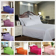 Hotel Bedding Pure Bed Flat Sheet Satin Stripe Sheets Multi-color Bedroom ZHW093