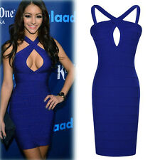 New Women Sexy Mini Bandage Bodycon Dress Cocktail Party Evening Dress Clubwear