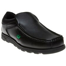 New Boys Kickers Black Fragile Slip On Leather Shoes