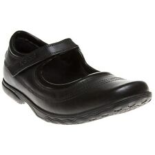 New Girls Kickers Black Keavy Bar Leather Shoes Velcro