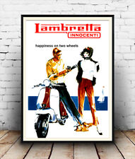 Lambretta, Vintage motor Scooter poster reproduction