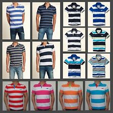 New Hollister by Abercrombie Men Muscle Slim Fit First Jetty Boneyard Polo Shirt