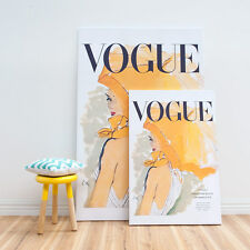 Vogue Cover Umbrella Vintage Canvas Print 3 Large Sizes Framed Canvas Wall Art