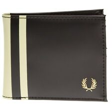 New Mens Fred Perry Black Logo Billfold Wallet Wallets