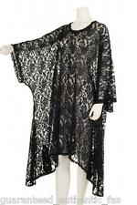 LA BASS  % SALE  HUGE FANTASTIC  GREY  LACE OVERSIZE TOP FITS US ALL!!!