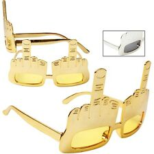 Gold or Silver* Large Middle Finger Pointing Sunglasses Party Costume Funny