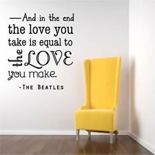 Beatles Love Wall Decal / Song Quote | Music Sticker 20x20 [BB1]
