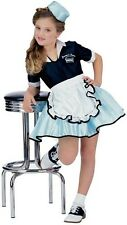 Girls Childs 50s 50'S CAR SOCK HOP WAITRESS Costume Dress Poodle Skirt * FAST *