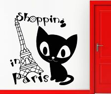 Wall Sticker Vinyl Decal Shopping Paris France Fashion Girl Woman Style (ig2206)