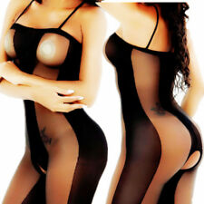 Women sexy lingerie bodystocking open crotch hot dress erotic clothes fishnet#8