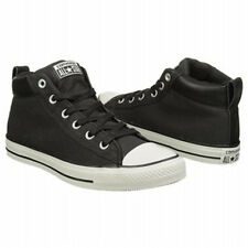 Converse Men's ALL STAR Street MID Fashion Sneaker BLACK Canvas Men Shoe NIB