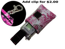 Medtronic, Animas, Tslim, AccuChek Pink Paisley Diabetic Insulin Pump Case Pouch